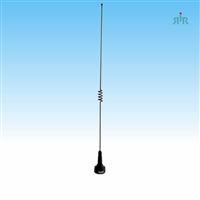 Antenna Dual Band VHF 140-170 MHz unity gain and UHF 430-470 MHz 2.5 dBd gain, NMO mounting.