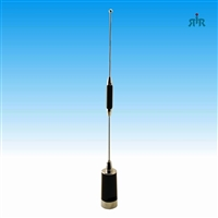 Antenna Dual Band VHF 150-158 MHz 3 dBd and 450-470 MHz 6 dBd gain, NMO mounting.