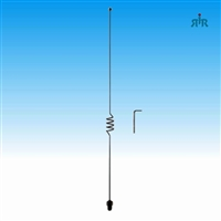 TRAM 1184 Mobile Antenna 3/8 x 24 Thread Mounting Dual Band VHF 140-170 MHz, UHF 430-470 MHz