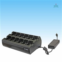 Gang Charger 12 Units NiCD, NiMH, Li-Ion Batteries