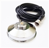 "TRAM 1237, 1239 Magnet NMO Antenna Mount 3 1/2"" Chrome Steel with 17 ft RG-58 Cable and Connector Assembled"