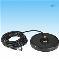 "TRAM 1241 Magnet NMO Antenna Mount 5"" Black with Rubber Boot, Cable and Connector Assembled"