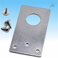 "TRAM 1255-F Flat 3/4"" Hole Stainless Steel Bracket for NMO Antenna Mount"