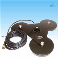 "Black triple 5"" magnet NMO antenna mount with cable"