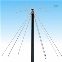 Antenna Base Wide Band for Receive 25-1300 MHz, Transmit on VHF, UHF, 900, 1200 MHz Amateur Bands.