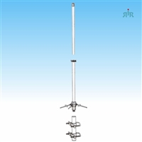 TRAM 1491 Antenna Base VHF 144-174 MHz, 7.8 dBd Gain, Tunable, 200 Watts Power Rating