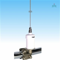 TRAM 1603 Marine Antenna VHF, 6 dBd Gain, Bottom Load Antenna, Rail Side Mirror Mount L-Mount, with Cable