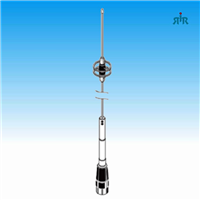 Antenna VHF 144-174 MHz, 4.1 dBd gain, Pull & Lay-Over Folding Whip, UHF Mounting, 200 Watts rating, no ground needed. Tram 3677