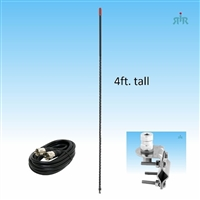 4BHC CB Antenna 26-28 MHz with Mirror Mount and Cable