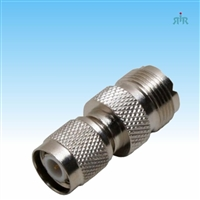 Adapter TNC Male to UHF Female, low loss.
