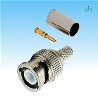 Connector BNC Male, crimp for RG-58, RG-400 type cable.