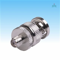 Adapter BNC Male to SMA Female.