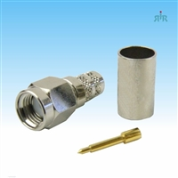 Connector SMA Male, crimp, for RG-58 type coax cable.