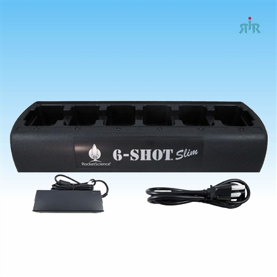 Rapid rate Gang 6 Unit Charger NiCD, NiMH, Li-Ion Batteries for Portable Radios