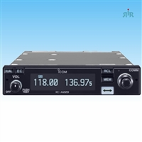 Icom A220 VHF Air Band Transceiver for airplanes or vehicles.