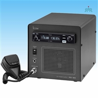 ICOM A220B Base Air Band Radio with Power Supply and Cabinet
