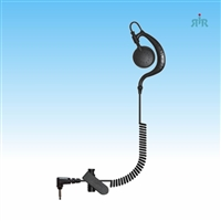 Earpiece AGENT Single-Wire C-Ring Style listen only