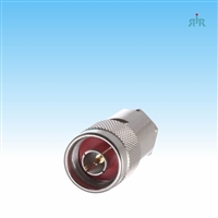 Connector silver N Male, 2 picies for LMR-400, RG-213U cable.