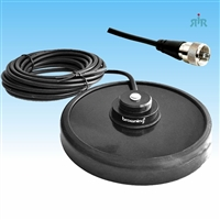 "BROWNING BR-322 Magnet NMO Antenna Mount 5"" with Rubber Boot and Cable Assembly"