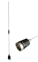 Antenna UHF 406-512 MHz, 5/8 over 5/8 wave, 5.5 dBd gain, 200 Watts, NMO mounting. For Mobile Radio