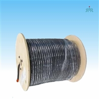 "LMR-500 braided coax cable, 0.500"" diameter, low loss, solid copper coated aluminum center conductor, 500ft wood reel."