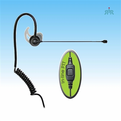 COMFIT PRO-AUDIO Earpiece 1-WIRE BOOM MICROPHONE for Motorola, Icom, Kenwood, Vertex
