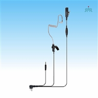 Earpiece DIRECTOR-MP3 for Kenwood, Motorola, Vertex-Standard Radios + Cell Phone or MP3 Player Connector