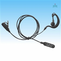 Earpiece E325 over Ear type with Mic and PTT for Motorola, Icom, Kenwood, Vertex.