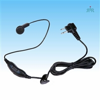 Earpiece E828 Single Wire mic with PTT and VOX ready for Motorola CP200 PR400 GP300 etc,