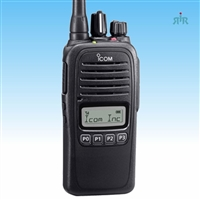 Icom F1000S VHF, F2000S UHF 128 Channels Waterproof Radios with LCD