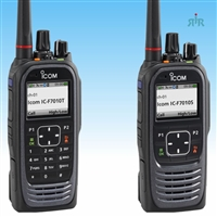 Icom F7010, F7020, F7040 P25 Conventional radios for VHF, UHF, 700/800MHz with GPS, Bluetooth
