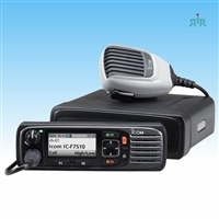 Icom F7510 VHF, F7520 UHF, 700 MHz, 800 MHz P25 Mobile Radio with GPS, Bluetooth