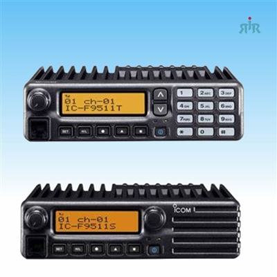 Icom F9511T F9521T P25 trunking mobile with 512 channels and full keypad