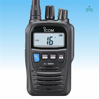M85  Marine VHF 5W compact handheld with 100 conventional  programmable channels