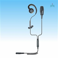 Earpiece PATRIOT CURL Professional 2-wire C-Ring Ear Loop for  Motorola M1 connector.