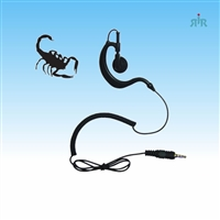 Klein Electronics SCORPION Listen-only Earpiece Earloop with Earbud Swivels for Left or Right Ear
