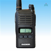 Maxon TJ-3100V VHF, TJ-3400U UHF radios with display, pre-programmed