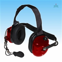 TITAN Dual-Muff Extreme Noise Reducing Headset with PTT. Available in Black, Red or Carbon Fiber.