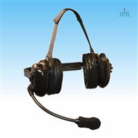 Klein Electronics TITAN-FELX- GP Dual-Muff Extreme Noise Reducing Headset with Flex Boom Mic, Gel Pads.