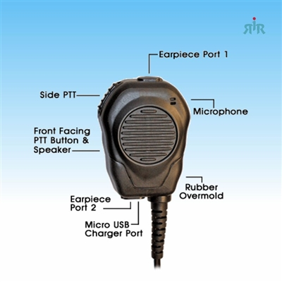 VALOR AMPLIFIED Speaker Microphone for Motorola Radios, Samsung, Motorola and other Phones