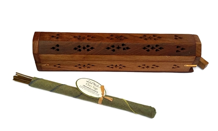 Rosewood Incense Storage Box and Burner