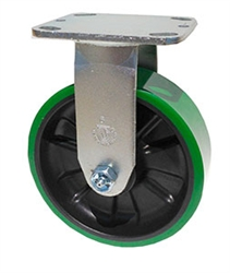 "Stainless Steel Medium Duty 5""x 2"" Rigid Caster Polyurethane on Nylon Wheel"