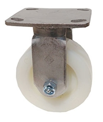 "Stainless Steel Medium Duty 6""x 2"" Rigid Caster Nylon Wheel"