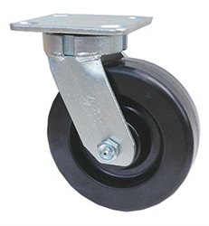 "Kingpinless Medium Duty 8""x 2"""" Swivel Caster Phenolic Wheel"