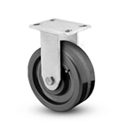 "Heavy Duty Rigid Caster with a 10"" x 3"" Phenolic wheel"