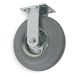 "Caster Air Filled Gray Pneumatic 10""x 3"" Wheel, Rigid"