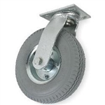 "Caster Air Filled Gray Pneumatic 10""x 3"" Wheel, Swivel"