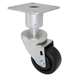 "4"" Adjustable Height Caster, food industry caster casters"