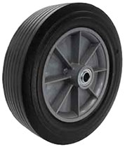 "8""x 2-1/2"" Semi Pneumatic Eco Rubber Wheel, Ball Bearing"
