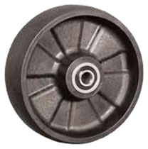 "6""x 2"" Glass Filled Nylon Wheel, Roller Bearing"